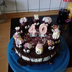 Torte zum 40. Geburtstag